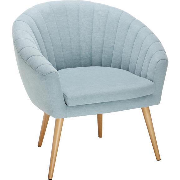 Fotelja Bea -exlusiv- - prirodne boje/svijetlo plava, Design, tekstil (75/77/45/66cm) - Modern Living