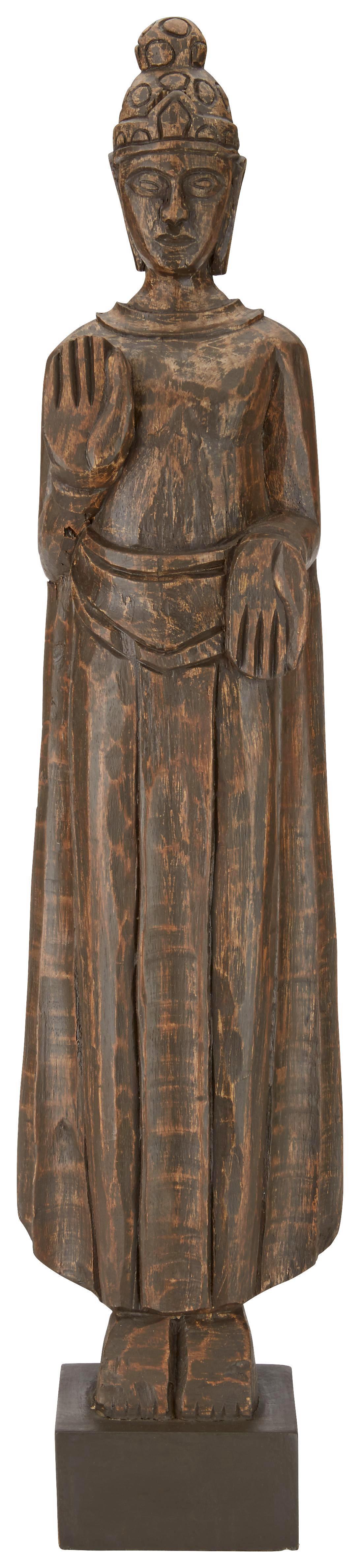 Buddha Ishwar aus Echtholz - Dunkelbraun, LIFESTYLE, Holz (14,5/62/9,5cm) - MÖMAX modern living