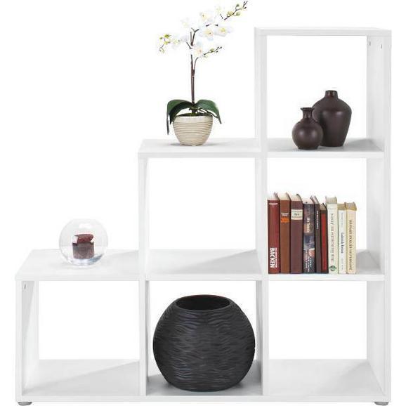Regal in Weiß mit 6 Fächer - Weiß, MODERN, Holzwerkstoff (112/114/35cm) - Mömax modern living