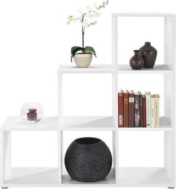 Regal Pisa - bela, Moderno, leseni material (112/114/35cm) - MÖMAX modern living
