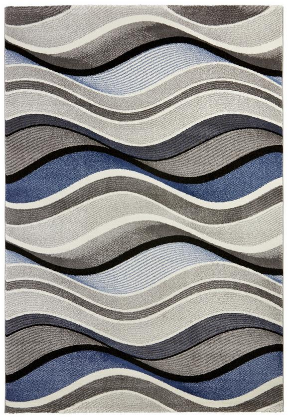 Webteppich Bill Blau 80x150cm - Blau, MODERN, Textil (80/150cm) - Mömax modern living