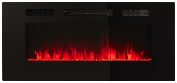 ELEKTROKAMIN Schwarz - Schwarz, LIFESTYLE, Glas/Metall (101,5/12/46,5cm) - Modern Living