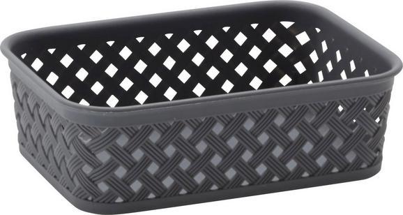 Korb Mona verschiedene Farben - Schwarz/Weiß, Kunststoff (20/15/6cm) - Mömax modern living