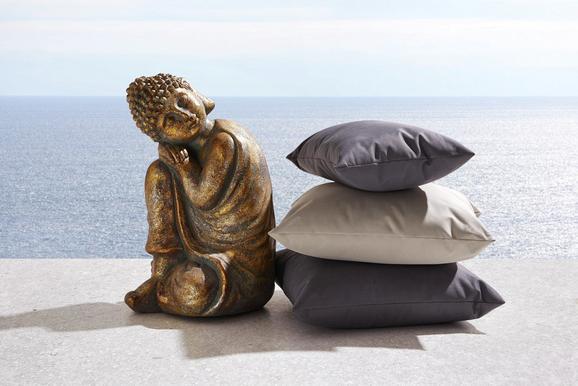Kissen Carat Outdoor ca.50x30cm in Hellgrau - Hellgrau, MODERN, Textil (50/30cm) - Mömax modern living