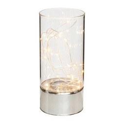 Lámpás Susanna - Átlátszó/Ezüst, Műanyag/Üveg (9/20cm)