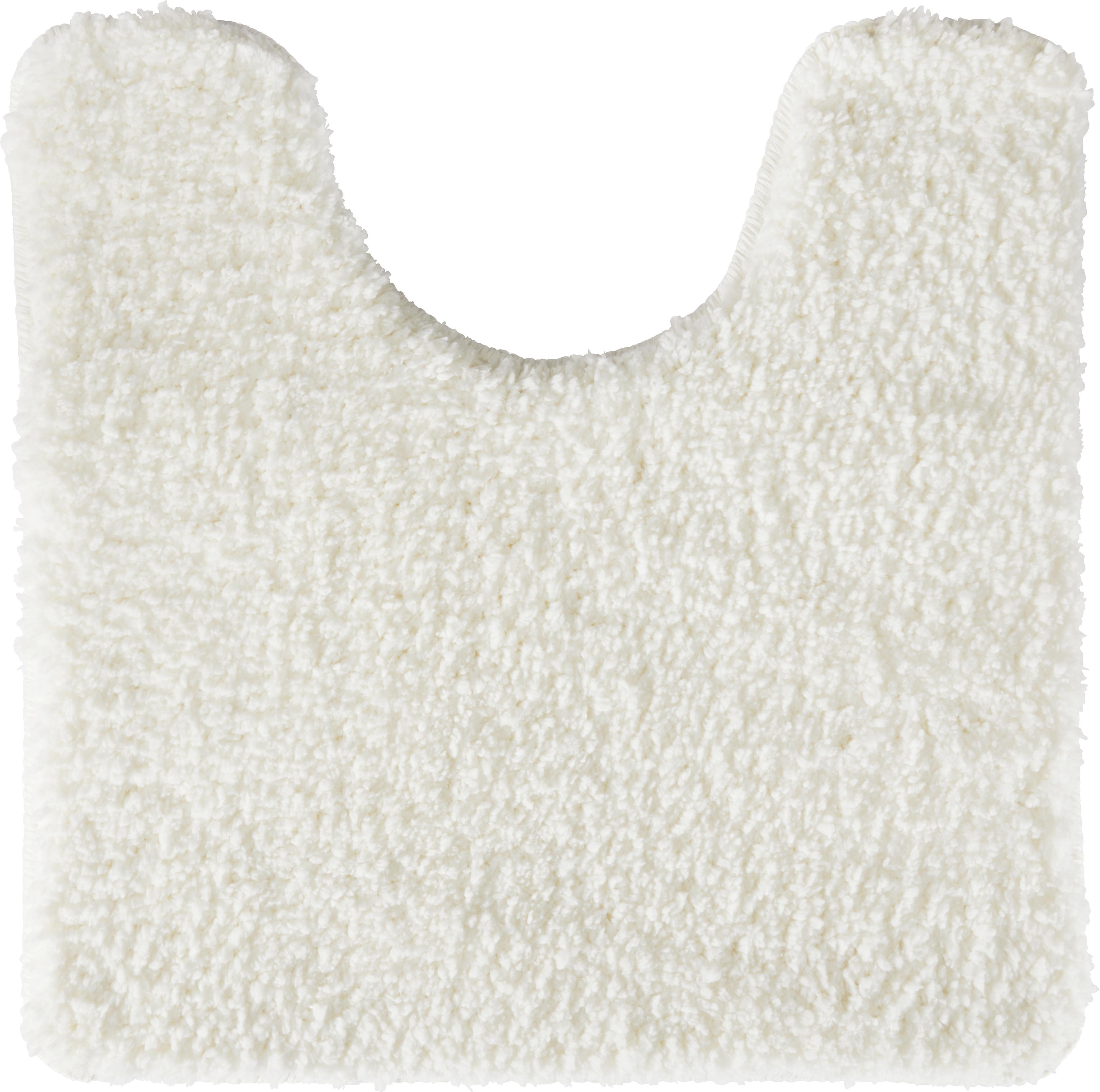 WC Vorleger Christina Ca. 50x50cm   Weiß, Textil (50/50cm)