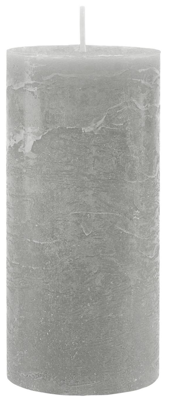 Stumpenkerze Lia Grau - Grau, MODERN (6,8/15cm) - Mömax modern living