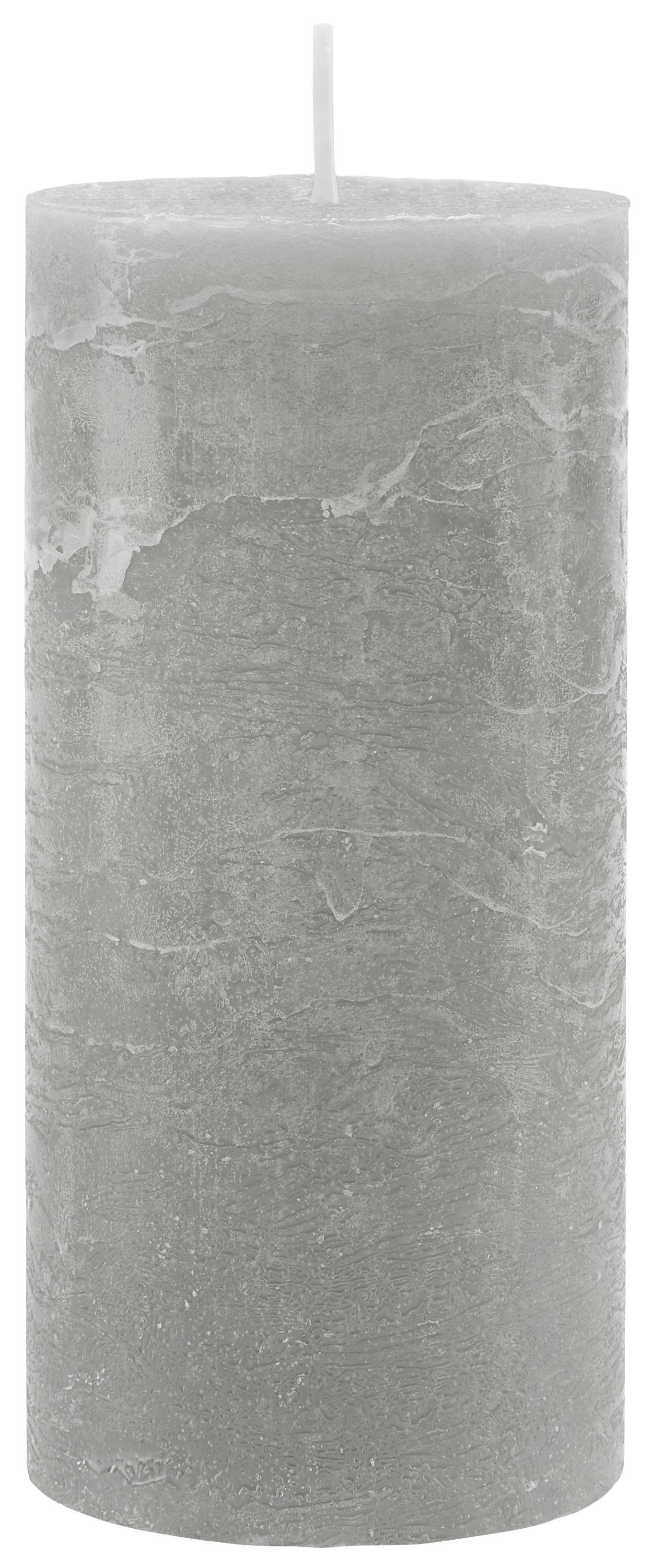 Tömbgyertya Lia - szürke, modern (6,8/15cm) - MÖMAX modern living