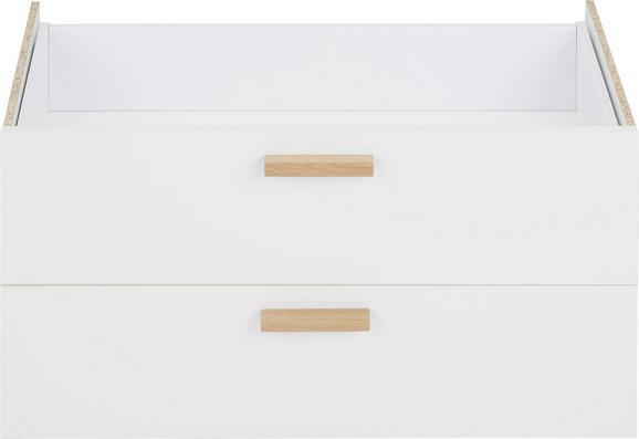Doppelschublade Weiß aus Holzwerkstoff - Eichefarben/Weiß, MODERN, Holz/Holzwerkstoff (71/35cm) - Premium Living