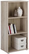 Regal Eiche/sandfarben - Sandfarben/Eichefarben, MODERN, Holzwerkstoff/Kunststoff (54/111/34cm)