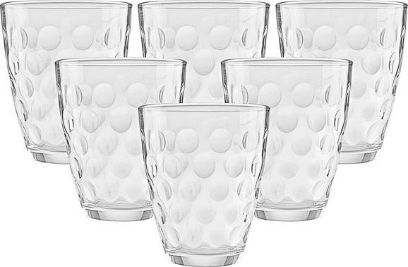 Set Kozarcev Dots - prozorna, steklo (17,0/25,7/10,90cm) - Mömax modern living