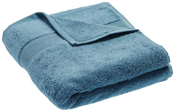 Handtuch Silvia Petrol - Petrol, Textil (50/100cm) - Modern Living
