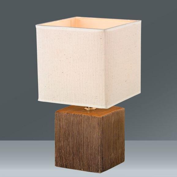 Tischleuchte Wanda, max. 40 Watt - Beige/Dunkelbraun, Keramik/Textil (15,5/28cm) - MÖMAX modern living