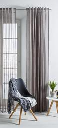 Fertigvorhang Sigrid, ca. 140x245cm - Anthrazit, ROMANTIK / LANDHAUS, Textil (140/245cm) - Premium Living