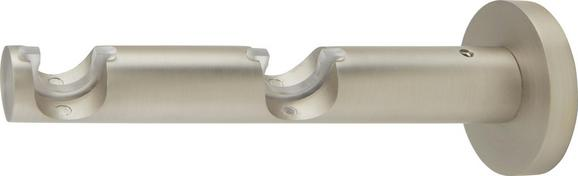 Träger Rillcube Silber, ca. 15cm - Silberfarben, Metall (15cm) - Mömax modern living