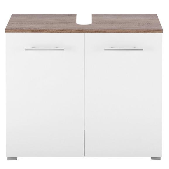 Waschbeckenunterschrank Weiß/Eiche online kaufen ➤ mömax