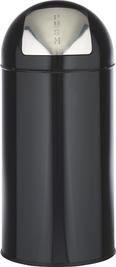 Koš Za Smeti Push Can - S - črna/cink, kovina (29,3/66cm) - Mömax modern living