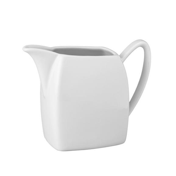 Milchkännchen Opera Weiß - Weiß, MODERN, Keramik (12,5/10/6cm) - Mömax modern living