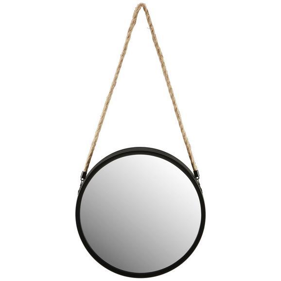 Oglindă De Perete Hannah - negru, Modern, sticlă/metal (30/30/4cm)