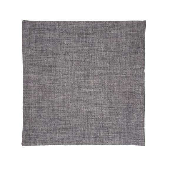 Párnahuzat Leinenoptik 50/50 - Szürke, konvencionális, Textil (50/50cm) - Premium Living