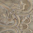 Nachtkästchen Avery - Beige/Weiß, MODERN, Holz/Metall (42/60/32cm) - PREMIUM LIVING