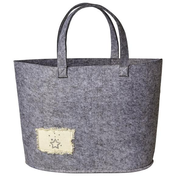 Nakupovalna Torba Ella - siva, tekstil (50/30/15,5cm) - Mömax modern living