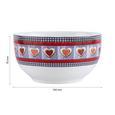 Müslischalenset aus Porzellan 2-teilig ''Heidi'' - Multicolor, Keramik (14/7,5cm) - Bessagi Home