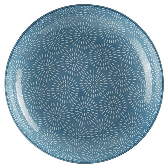 Suppenteller Nina in Blau Ø 21cm - Blau, Keramik (21cm) - Mömax modern living