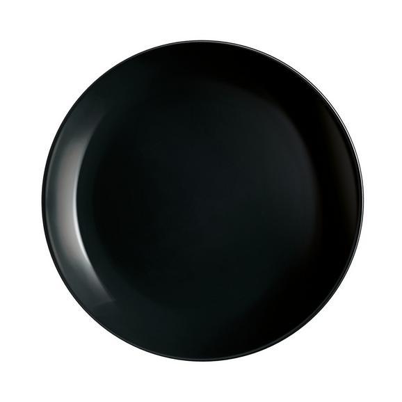 Farfurie Desert Alexis - negru, Romantik / Landhaus, sticlă (19cm) - Modern Living