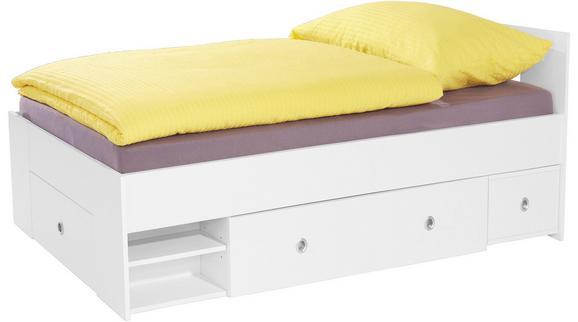 Postelja Azurro 90 - bela, Moderno, leseni material (204/75/95cm) - Mömax modern living