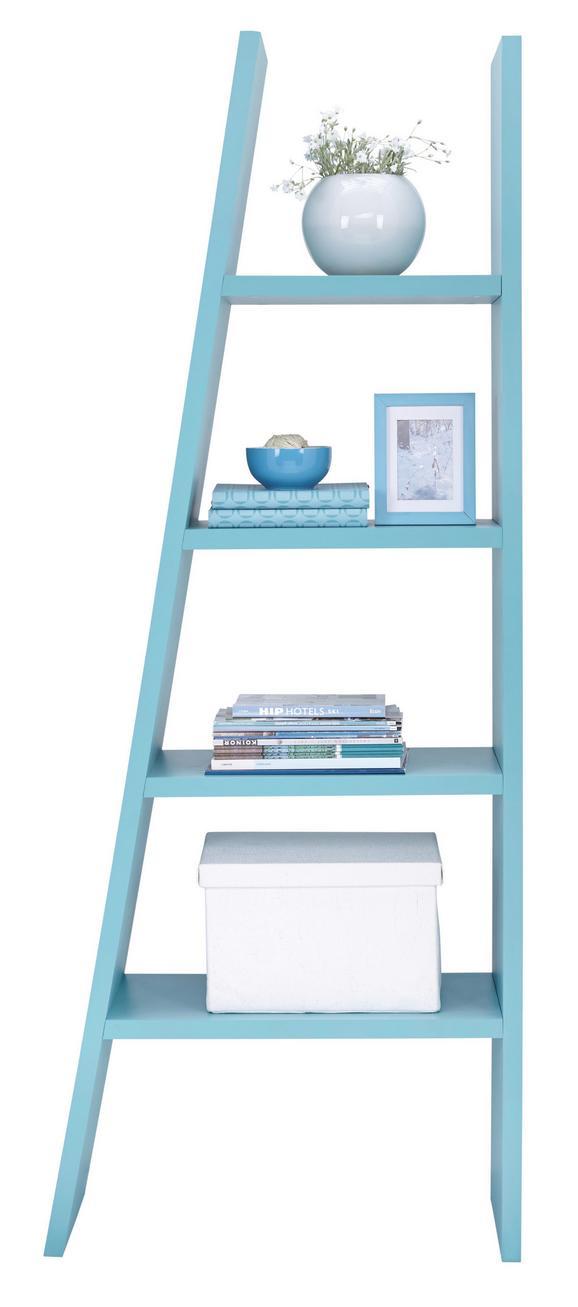 Polc Funny - világos kék, modern, faanyagok (42/76/190/30cm)