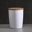 Porzellandose Haku mit Deckel - Naturfarben/Weiß, MODERN, Holz/Keramik (13/17cm) - Mömax modern living