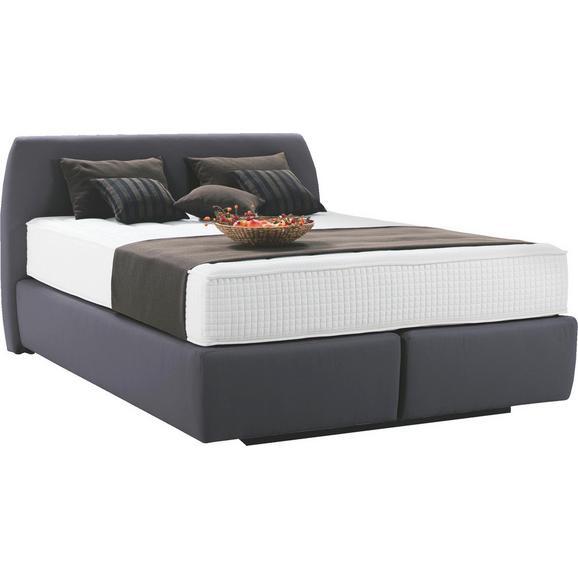 Postelja Z Vzmetnico 180x200 Cm Starline - antracit, tekstil/leseni material (180/200cm) - Premium Living