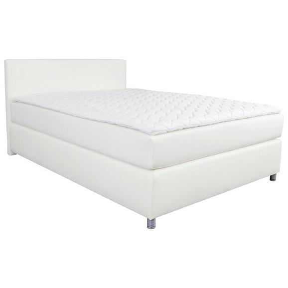 Postelja Boxspring 160x200 Cm Ascari - aluminij/bela, Moderno, umetna masa/tekstil (160/200cm) - Mömax modern living