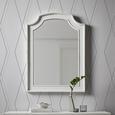 Spiegel Lewis Vintage ca. 63x85 cm - Weiß, MODERN, Glas/Holz (63/85/3,5cm) - Bessagi Home