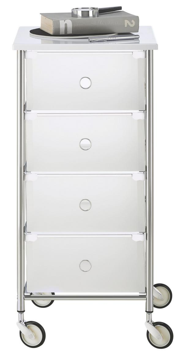 Predalnik Na Kolescih Match Universal - bela, Konvencionalno, kovina/umetna masa (33/73/36cm)