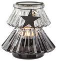 Teelichthalter Malva - Klar/Silberfarben, MODERN, Glas/Metall (11/10cm) - MÖMAX modern living