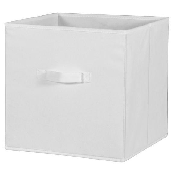 Cutie Pliabilă Cliff - alb, Modern, textil (32/32/32cm)