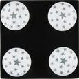 Möbelknopf Star aus Keramik - Weiß/Grau, Keramik (4/6cm)