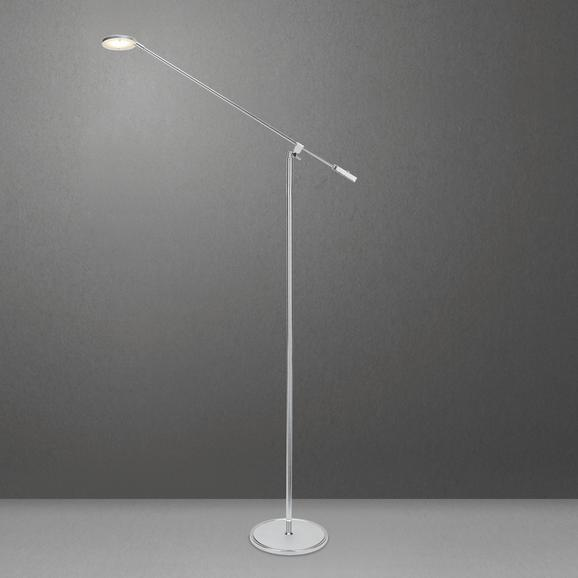 LED-Stehleuchte Pedro - Chromfarben/Silberfarben, MODERN, Kunststoff/Metall (53/23/150cm) - Mömax modern living