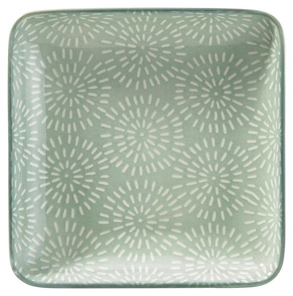 Platte Nina aus Porzellan - Mintgrün, Keramik (12,5//cm) - Mömax modern living