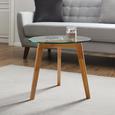 Couchtisch Lui Ø ca. 50 cm - Klar, MODERN, Glas/Holz (50/45cm) - Mömax modern living