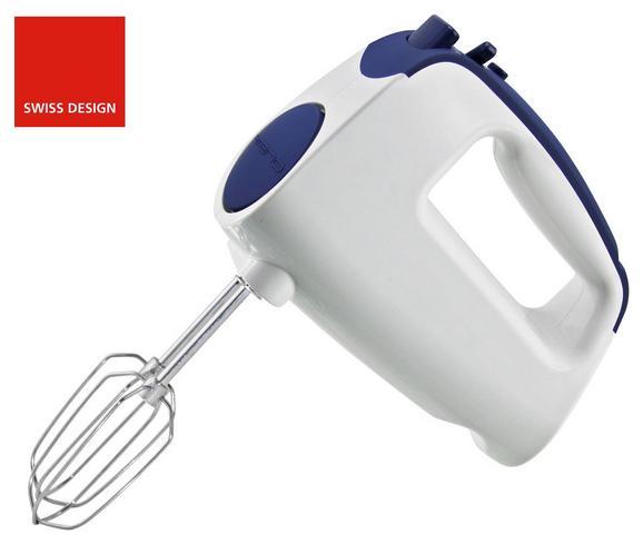 Handmixer Noah Weiß/blau - Blau/Weiß, Kunststoff/Metall (18/9cm)
