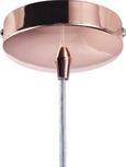 Pendelleuchte Claire - Klar/Kupferfarben, MODERN, Glas/Kunststoff (35/10cm) - Premium Living