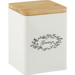 Box mit Deckel Lore Weiß Echtholz - Weiß, ROMANTIK / LANDHAUS, Holz/Metall (11,5/11,5/14cm) - Zandiara