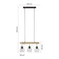 Hängeleuchte Gidi max. 40 Watt - Schwarz, ROMANTIK / LANDHAUS, Holz/Holzwerkstoff (60cm) - Modern Living