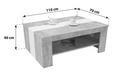 Klubska Miza Madras - siva/bela, Konvencionalno, leseni material (110/40/70cm) - Mömax modern living