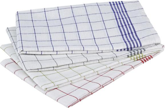 Konyharuha London - Piros/Zöld, Textil (50/70cm) - Mömax modern living