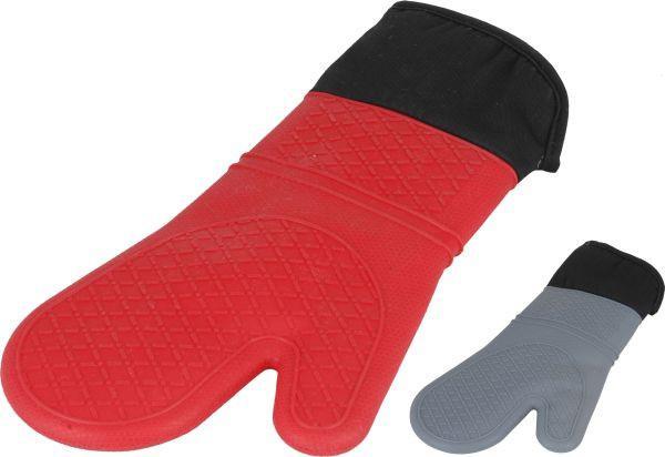 Topfhandschuh Jonny in verschiedenen Farben - Rot/Grau, Kunststoff/Textil (32/19cm) - MÖMAX modern living