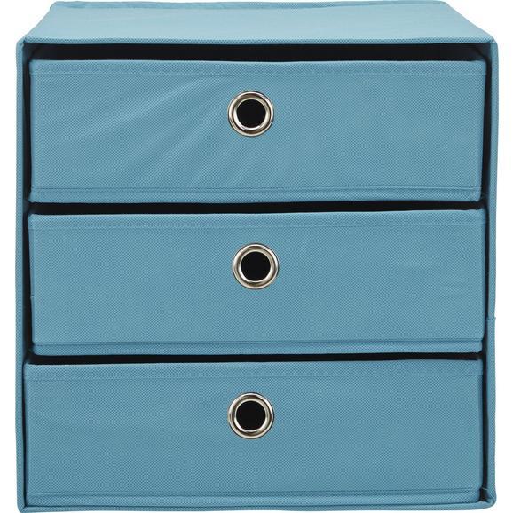 Schubladenbox Mona ca. 32x31,5cm - Petrol, MODERN, Karton/Textil (32/31,5/32cm) - Mömax modern living